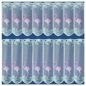 """FLAMINGO CAFE NET CURTAINS - 18"""" and 24"""""""